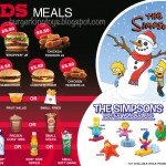"Burger King ""The Simpsons Winter Wonderland"" Toys"