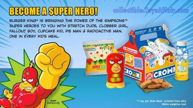 Burger King The Simpsons Super Heroes Toys Kids Meal Toys